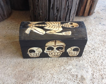 Beach Decor Pirates Treasure Box Wooden by SEASTYLE