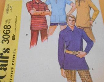 McCalls 3068, Mens Shirts,  Size:  Medium 38-40