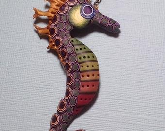 Polymer Seahorse Pendant