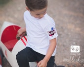Tattoo Heart on My Sleeve Mom or Dad Tattoo White T Shirt by Messy Kids Designs perfect for Mother's Day, Vaentines or Everyday Wear