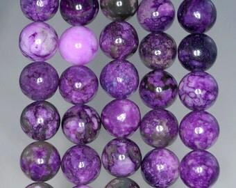 8mm Purple Sugilite Gemstone Round Loose Beads 15 inch Full Strand (90184726-842)