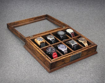 unique personalized watch boxes and leather goods by dferichs watch box for men watch box watch case men s watch box wood watch box watch display anniversary gift custom watch box for 8 watches