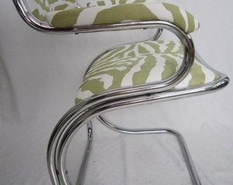 70's Chrome Chair Cantilever