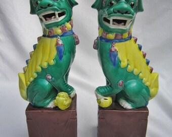 Vintage Foo Dogs, Pair