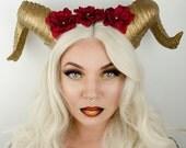 Dragon horn headdress -  cosplay - maleficent