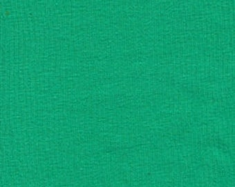 Solid Kelly Green Knit Fabric Cotton lycra