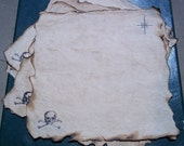 Treasure Map, Fill in the Map Yourself, Blank Treasure Map, Aged Paper, Skull and Cross Bones, Burnt Edges, Authentic, Autumn Fun for Kids