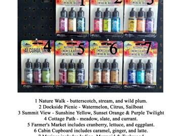 Pick your Set Tim Holtz Alcohol Inks Adirondack - Dye Based Multi Surface Inks