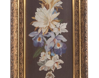 Victorian Era OOC Floral Painting