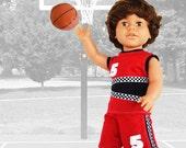 Shootin' Hoops Baskeball Uniform for 18 Inch Dolls