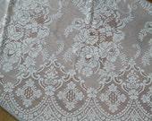 14 Pieces of Vintage Lace Curtains and Matching Valances, Exquisite Floral Lace Design panels made for curtains rod in great Mint Condition