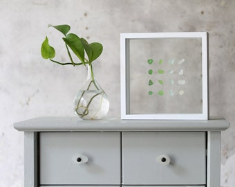 Sea Glass in Shadowbox - Ombre Collection