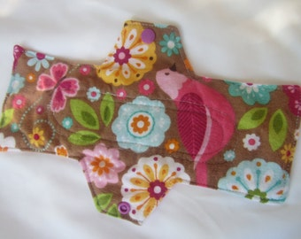 Birds and Butterflies Extra Coverage Mama Cloth (Reusable Cloth Menstrual Pad)