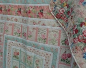 Handmade Cottage Quilt Heirloom Shabby Elegance Country French Boho Chic Large Twin Small Double Size Vintage Inspired Retro Bedding
