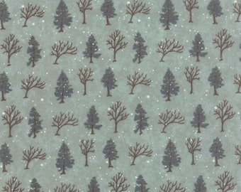 Moda - Winter Forest Flannel Tree Eucalyptus by Holly Taylor