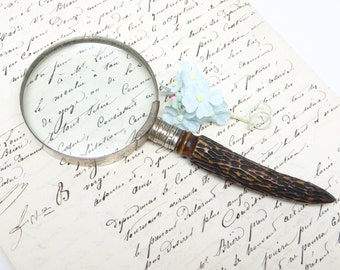 Vintage Magnifying Glass with Horn Handle