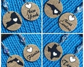 All For The Love of your Home State NON SNAG Stitch Markers - Set of Two