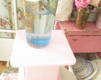 Pink vintage scale farmhouse shabby chic prairie cottage