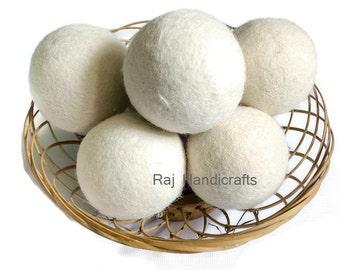Wool dryer balls handmade in Nepal,pack of 6 pieces in 7 cm diameter, wool ball, dryer ball,Laundry ball