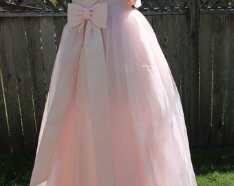 HOLLYWOOD GLAMOUR! Genuine 1950's Long Pink Formal Party Dress Gown