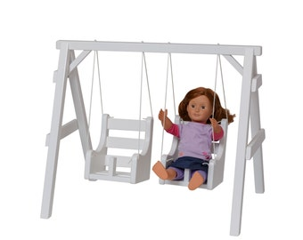 Doll Swing, Fits the American Girl Doll, Solid Wood