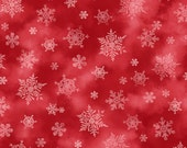 Snowflakes, Holiday Elegance by Quilting Treasures, Red Snowflakes, Red Fabric, Christmas Fabric, 11009