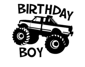 Monster Truck Birthday Boy t-shirt