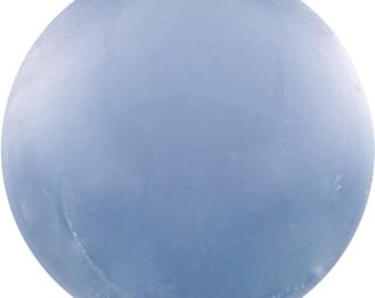4.5 Ct Natural Blue Chalcedony Gemstone Round Cab Size 10 mm