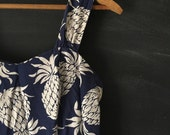 Vintage 70's Hilo Hattie Pineapple drop waist summer dress