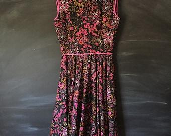 Vintage 50's Floral Mod party dress