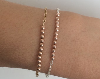 Gold Fill Beaded Bracelet also available in Silver and Rose Gold Fill