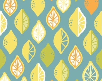 Juicy - Lemon Lime - Organic Cotton - Monaluna Fabrics (JU-07-BLT) - 1/2 Yard