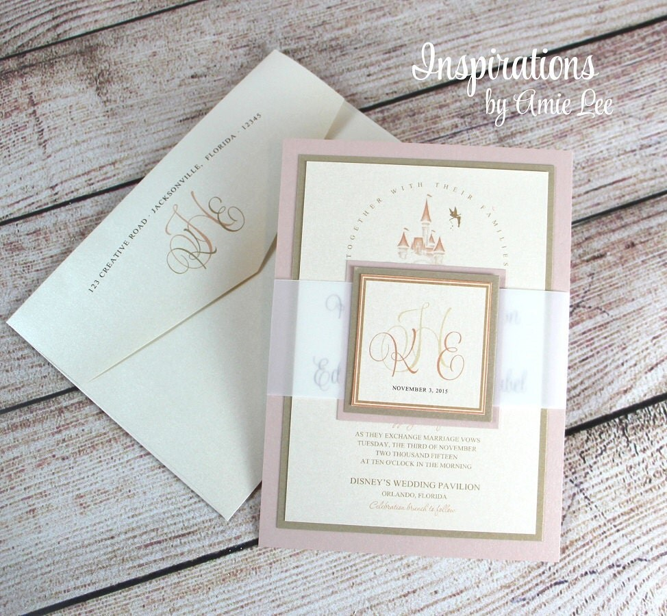 Disney Wedding Invitations Fairy Tale Wedding