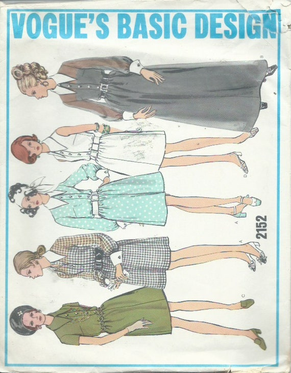 Vintage vogue s basic design sewing pattern by