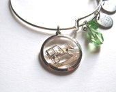 Adjustable Silver Plated Offroad Vehicle Charm Bracelet