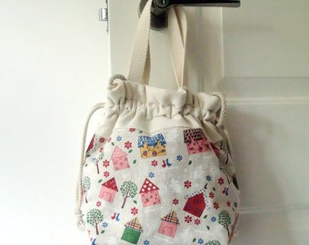 3 in 1 handbag / shoulder bag / crossbody bag ~ Beautiful houses (A16)