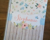 Spiral Notebook, Custom Notebook, Personalized Sketchbook, Personalized Notebook, Personalized Journal, Personalized Diary - Stephanie