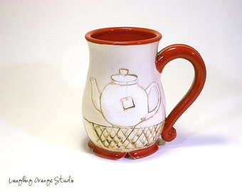 Red Ying n Yang Tea Mug