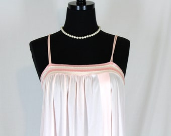 Vintage Gilead Pink Nightgown Small Long