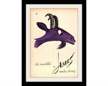 "1960 Hanes Pantyhose & Goat Stockings Ad ""Art by Bobri"" Vintage Advertisement Wall Decor Print"