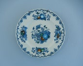 Blue and White Plate - Masons China - Fruit Basket Dish - Cottage Wall Decor - Cobalt Blue White Dish - Rustic Farmhouse Decor