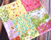 READY TO SHIP Briar Rose Froggy and Bumble Bee Baby Blanket Minky Heather Ross Carseat Stroller Blanket