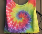 Small Tie Dye Upcycled Tshirt Bag / Purse / Tote