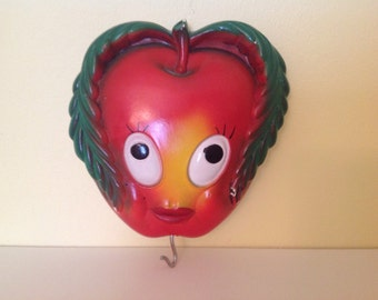 Ms.Veggie Face - Chalkware Wall Plaque with Hook
