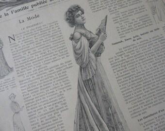 4 Victorian,  Art Nouveau Fashion Magazines French La Mode Pratique  Dated 1901