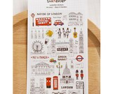 Diary Scrapbook Suatelier Embossed 3D Sticker Label Days in London