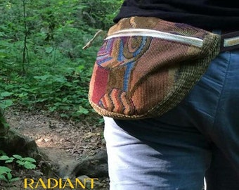 patchwork fanny pack MADE TO ORDER : handmade hippie patchwork durable unique one of a kind design