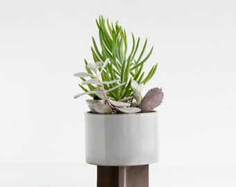 Archromo Stoneware Cactus Planter - Blue Ash color