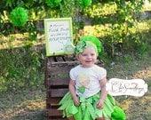 Fabric Tutu, Tinkerbell tutu, Photo Prop Tutu, Childrens Toddler tinker belle Halloween costume, Birthday Tutu, fairy tutu