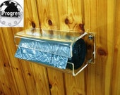 Kitchen Wall Dispenser Holder Stand Rack for Disposable Garbage Rubbish Trash Bags Roll